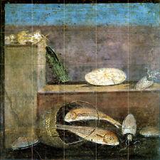 20 x 20 Art Still Life Tumbled Marble Mural Backsplash Pompeii Tile #239