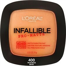 LOREAL Infallible Pro Matte 16Hr Powder TRUE BEIGE 400 NEW