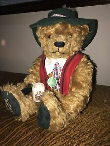 Hermann Mohair Oktoberfest Bear 75th Birthday Limited Edition Musical Germany LE