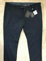 """TED BAKER NAVY BLUE """"LOTSDOT"""" SLIM FIT TROUSERS PANTS CHINOS - 38 L - NEW & TAGS"""