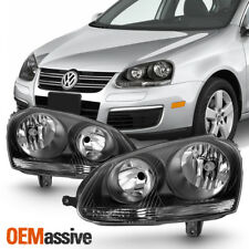 Black 2006 2007 2008 2009 Volkswagen Jetta GTi Halogen Headlights 06 07 08 09