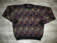 90's Protege Vibrant Multi-Color Hip Hop McGregor Biggie Sweater Vintage Size XL