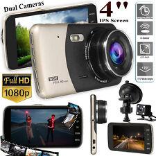 """4"""" Car HD 1080P Dual Lens DVR Dash Cam Camera Front&Rear Video Recorder G-Sensor"""
