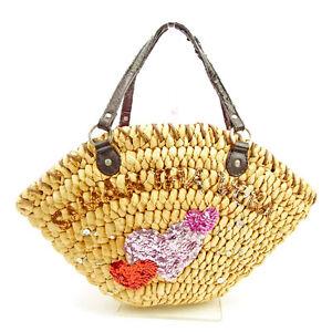 Samantha Thavasa Tote bag Beige Brown Woman unisex Authentic Used Y6619