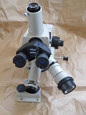 NIKON LABOPHOT METAPHOT TRINOCULAR METALLURGICAL MICROSCOPE for POST MOUNTING