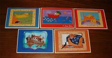 SET OF 5 NEW UNUSED APPLEJACK INTL.OF VERMONT BLANK GREETING CARDS w/ENVELOPES