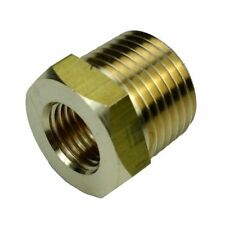 """1/2"""" BSPT Male * 1/4"""" Female NPT Adapter Brass Pipe Fitting Reducing Bushing"""