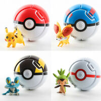 Bounce Pop-up Poke Ball Pokemon PokeBall Throw Pop Action Figure Game Toy 7cm