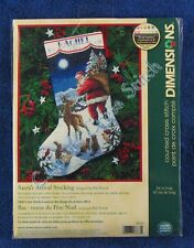 Christmas Cross Stitch Kit Santa's Arrival Stocking Kit Traditional Dimensions