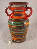 60s 70s DÜMLER & BREIDEN Keramik Vase 20cm tolle Farben Fat Lava Ära