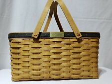New ListingLongaberger Collector's Club Membership Basket with 2 swing handles 2003