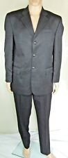 "Grey stretch wool blend suit jacket trousers, NEXT chest 40 R W 34"" L 32"""