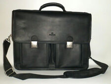 Danier Black Leather Satchel/Attache/Briefcase/Laptop/Crossbody/Shoulder Bag OEM