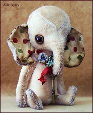 By Alla Bears artist Antique Vintage Elephant Teddy Bear sale art doll OOAK baby