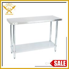 18 X 48 Stainless Steel Work Prep Table Commercial Restaurant Food Undershelf