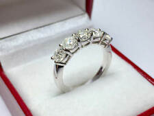 2.00 Ct Diamond Engagement Wedding Eternity Band 14K Solid White Gold Size L M N