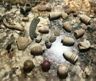 Civil War Bullet, Fragment, & Marble Lot