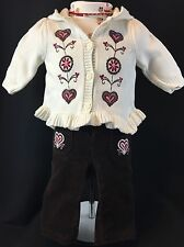 Gymboree Alpine Sweetie Baby Girl 3-6 Months Outfit Set Pants Sweater Bodysuit