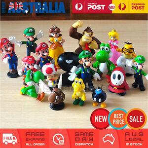 18x Super Mario Bros Figures Toy Cake Topper Display Figurine Decor Kid Gift Set