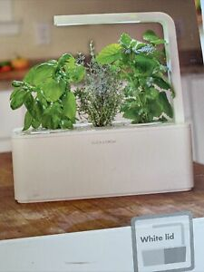 CLICK and GROW Smart Garden 3 Fresh Herbs Includes Basil Pods Grow Indoors NEW!!