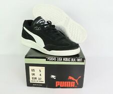 NOS Vintage 90s Puma Liga Nubuck Suede Indoor Soccer Shoes Trainers Black Mens 5