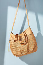 NEW Anthropologie Alma Leather Tan Large Handbag by Day and Mood