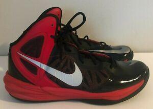 Nike Prime Hype DF Basketball Shoes Red/Black/Silver Men's Sz 11 700905-066