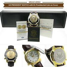 1 Dollar Coin Watch ABRAHAM LINCOLN US President Japan Movement with Date PW02