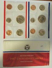1987 US Mint Set Flatpack 10 Coins Kennedy Half Dollar COA Free Shipping 9911110