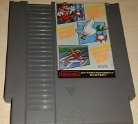Super Mario Bros. Duck Hunt World Class Track Meet Nintendo NES 3 game cartridge