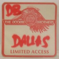 Doobie Brothers - Original Concert Tour Cloth Backstage Pass *Last One*