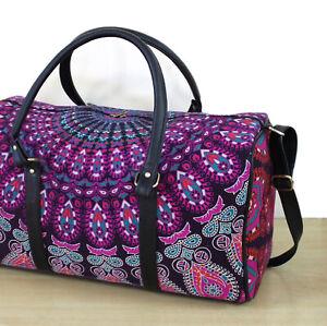 Indian Peacock Mandala Hippie Handbags Duffle Sports Gym Bag Unisex Travel Bags