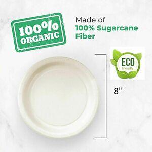 50 Disposable Party Paper Plates Biodegradable