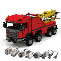 0583 Building Toys for Scania 8x8 Extreme Tow Truck Blocks Technic Motor Bricks