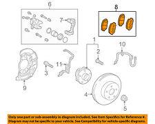 TOYOTA OEM Brake-Front Pads 0446547070