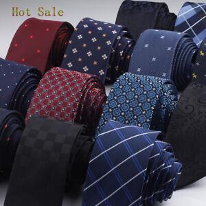 Men Ties Needles 6cm Dot Striped Plaid Necktie Gravata Slim Tie Classic 2019