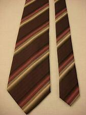 VAN HEUSEN Men's Neck Tie - Purple Pink Gray Black diagonal stripes