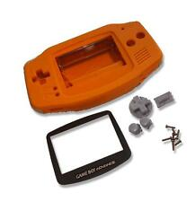 Gameboy Game Boy Advance GBA Orange Shell Case Housing w Screen & Tools UK