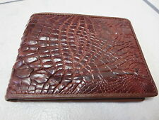 Crocodile leather bifold wallet (WB12.4)