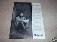 Klipsch Klipschorn Ad de 1988, Excellent État! Article