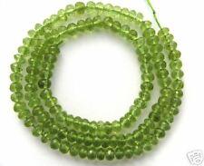 4MM Gem Peridot Rondells Beads Drops Briolette 22