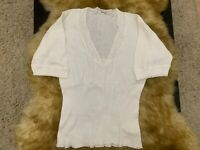 Frixa cotton white Camisole Top sleepwear nightwear size L
