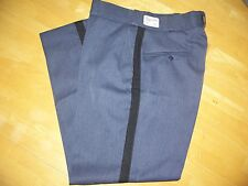 Flying Cross Frosted Blue Black Stripe Uniform Pant Men's 34x28 Poly/Wool #32277