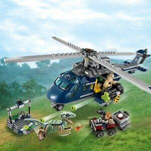 NEW Blue's Helicopter Pursuit Park 75928 Dinosaurs all fit Jurassic World Lego