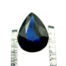 Pear 7x5mm Deep Blue Color Natural Australian Sapphire Gemstone Loose 0.77 carat