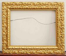 LARGE ORNATE VICTORIAN ART NOUVEAU WOOD GILT GOLD GESSO FRAME PICTURE MIRROR