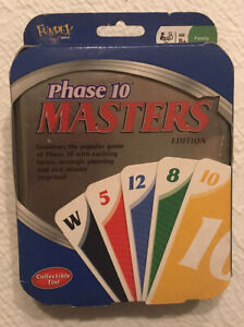Phase 10 Card Game Masters Edition Metal Tin Collectible Box 2009 New in Package