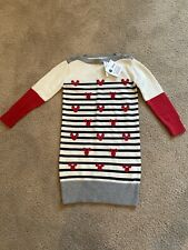 Gap Disney Mickey Mouse Sweater Dress Girls Size S 6-7 Button Detail Colorblock