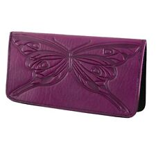 Butterfly Orchid Leather Checkbook Cover by Oberon Design COMBINED SHIPPING