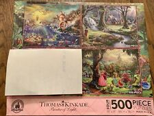NEW Thomas Kinkade Disney Parks Princesses 3-in-1 500 Piece Jigsaw Puzzle Ariel